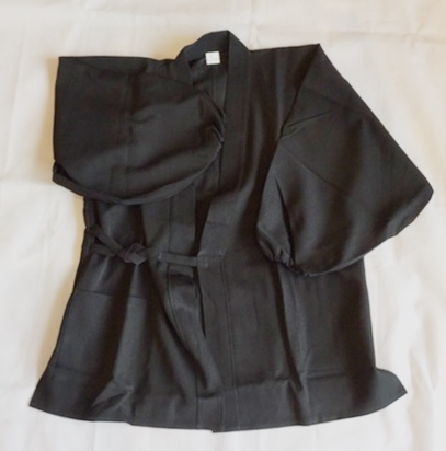 のびのび作務衣 黒