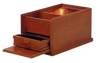 蓋付角香炉(栓)(オトシ蓋付)幅8寸奥15cm高13cm