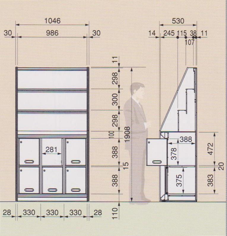 位牌棚 説明図