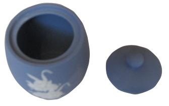分骨壺カメオ2.3寸総丈10cm 総巾7.2cm 口径内寸4.5cm