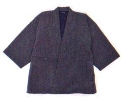 刺子織作務衣 黒