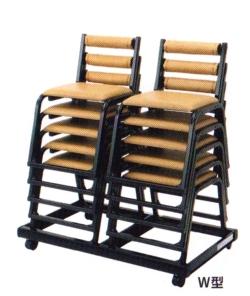 アルミ本堂椅子専用台車