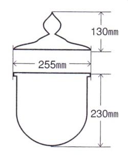 護摩釜1.5尺 断面図