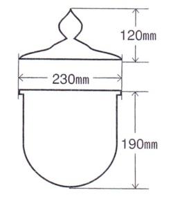 護摩釜1.2尺 断面