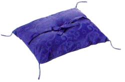 曲彔布団 紫 シルックどんす