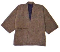 刺子織作務衣 茶