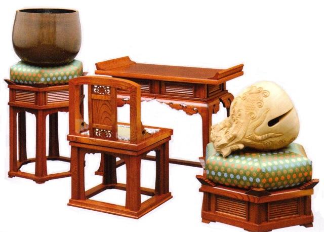 欅製椅子式導師机 例