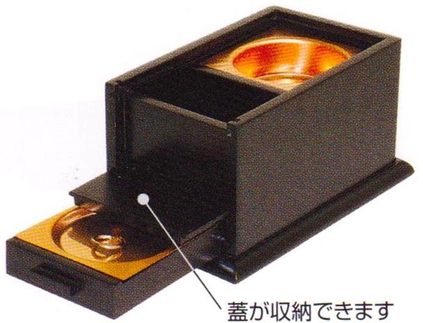 黒檀蓋付角香炉 オープン