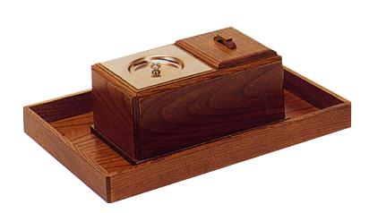 廻し香炉セット欅(オトシ蓋付)