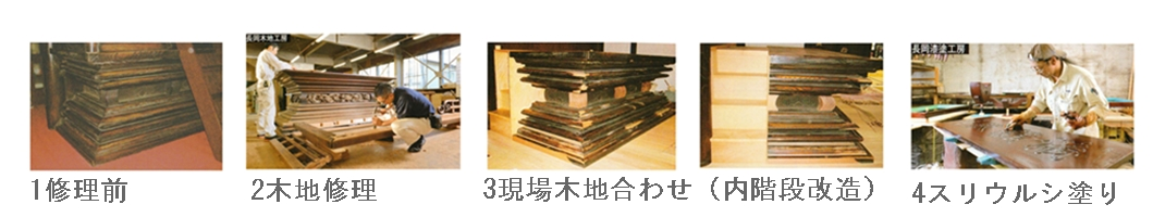 須弥壇工程1